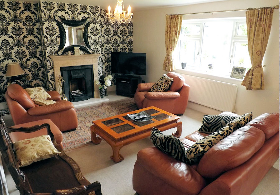 The comfortable lounge area at Lakehouse bed and breakfast in North Wales
